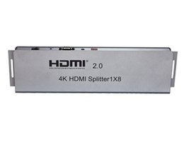 Wholesale Splitter Repeater - HDMI splitter 1x8 v1.4 8 Port HDMI Splitter Full HD Hub 4k HDMI Splitter 1 in 8 out Repeater 3D