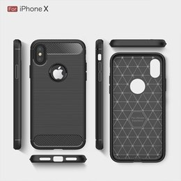 Wholesale Iphone Cases Fiber - Rugged Armor Case for iPhone 8 Plus iPhone X Samsung Galaxy Note 8 with Anti Shock Absorption Carbon Fiber Design