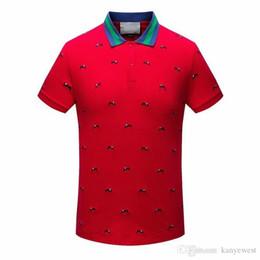 Wholesale Men High Collar T Shirt - 2017 summer style Luxury Brand Men embroidery T Shirt Short Sleeve t-shirts High Quality Cotton t-shirt Neck Tees men fashion t-shirt