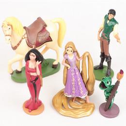 Wholesale Rapunzel Toys Wholesale - High Quality 5pcs set Tangled Rapunzel Princess Sofia PVC Action Figure Toy Juguetes Dolls Gifts for Children Kids Toys