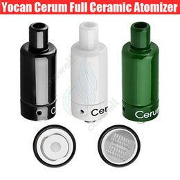 Wholesale Herb Tank Ceramic - Original Yocan Cerum Atomizer Full Ceramic Wax Dry herb Tank herbal Vaporizer Spare Quartz Dual QDC Donut Coil vapors mods e cigarettes