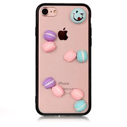 Wholesale Transparent Plastic Candy Case - For iPhone 6 7 6s plus Candy Cartoon Cute DIY Hard Case Acrylic Transparent Back Cover For Samsung S8 s8plus