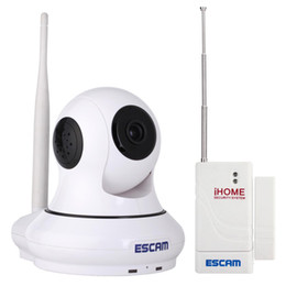 Wholesale Ip Dome Card - H.264 HD 1.0Mega 720P Wireless Pan   Tilt Infrared P2P Dome IP Camera Support 32GB TF Card Slot   Onvif   Android   iPhone