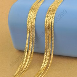 Wholesale Yellow Gold Necklace Clasp - wholesale Free Shipping 5PCS 22 Inches 18K Yellow Gold Filled Necklaces Chain 1.8MM For Pendant With Lobster Clasps  Lots New