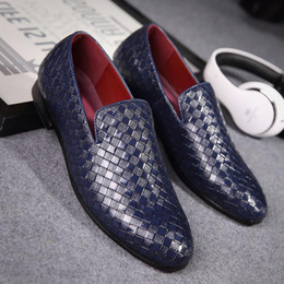 Wholesale wedge moccasins - 2017 Men Shoes luxury Brand Braid Leather Casual Driving Oxfords Shoes Men Loafers Moccasins Italian Shoes for Men Flats