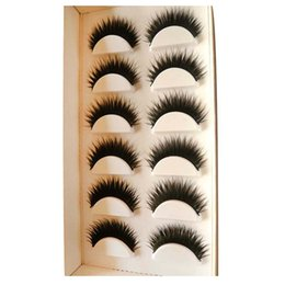 Wholesale Eyelashes Pairs - 6 Pairs Of Eyelashes Mink Collection False Eyelashes Real Hair Handmade Fake Eye Lashes Professional Makeup Tip Bigeye Long False Eye Lashes