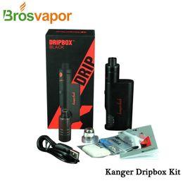 Wholesale E Cigarette Battery Cover - Wholesale-Original Kanger Dripbox Starter Kit 7.0ml Kanger Subdrip Tank 60W Dripmod Special Battery Cover Kanger Dripbox E-cigarette Kit