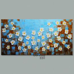 Simple Oil Paintings Canvas Flowers NZ | Buy New Simple Oil