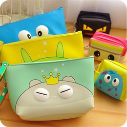 Wholesale Kawaii Makeup Bag - Kawaii High-capacity Cartoon Makeup Bag Girls Waterproof Hand Purse Bag Wholesale Cosmetics Storage Bags Casual Toiletry Travel bag