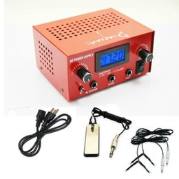 Wholesale Dual Lcd Tattoo - LCD Digital Dual Tattoo Power Supply Body Art 2 Clip Cords 1 Foot Pedal 99-1009-01