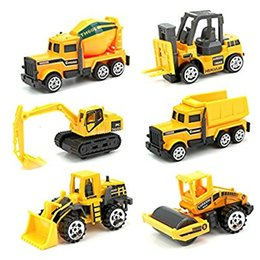 Wholesale Toy Friction Trucks - Toy Early Engineering Vehicles Friction Powered Kids Dumper, Bulldozers, Forklift, Tank Truck, Asphalt Car And Excavator Toy For Children K