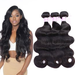 Wholesale Cheap Remy Bundles - Cheap Remy Brazilian Hair Body Wave 3 Bundles Wet And Wavy Human Hair Weave Raw Unprocessed Indian Peruvian Brazilian Virgin Hair Extensions