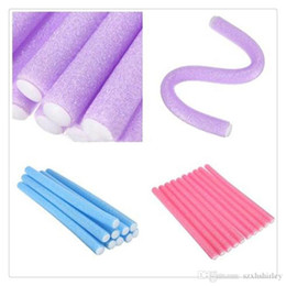 Wholesale Curling Rods Rollers - Wholesale Magic Hair Roller Curlers Hair Curling Curler Soft Foam Bendy Twist Magic Flexi Rods DIY Styling Hair Sticks Tool Free Shipping