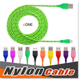 Wholesale Micro USB Cable S7 Edge S7 S6 High Speed Nylon Braided Cables Charging Sync Data Durable FT FT FT Nylon Woven Cords For HTC Sony LG
