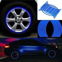 2019 adesivo logo toyota 2019 18 strisce Car Styling Automobili per motociclette Adesivo per ruote su nastro per auto Adesivo per auto Accessori per il parcheggio