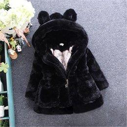 Wholesale Child Plush Coat - The New Autumn And Winter Children's Clothing Girls Clothing Imitation Fur Coat Children Thickening Cotton Cotton Jacket Baby Plush Coat