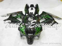 Wholesale 95 Cbr Fairing Kit - Complete fairing kit with tank cover fit for CBR600 F3 1995 1996 CBR600 F3 95 96 CBR 600 Black With Green Flame 10B66