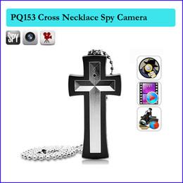 Wholesale Hidden Pocket Cameras - 4GB Cross necklace camera,cross pendant pocket spy camera ,pendant hidden camera Camcorder Mini pinhole DV DVR Cameras PQ153