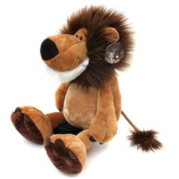 "Wholesale Wholesale Teddy Bears Stuffed Animals - 1pcs 10"" 25cm Popular NICI Lion Stuffed Doll Plush Jungle Series Animal TOYS Free Shipping"