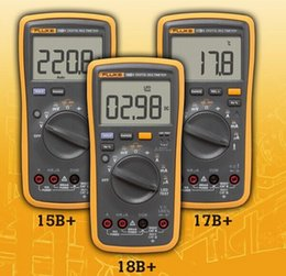 Wholesale Digital Multimeters Fluke F17B Multimeter Tester with retail box F17B F18B F15B DHL ship from china