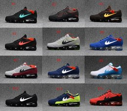 Wholesale Max Men Running Shoes - New Arrival Vapormaxes Plyknit Running Shoes Men Trainers Tennis Vapor Maxes 2018 Kpu Shoes Man Homme Sport Authentic Sneakers Size 40-46