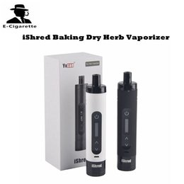 Wholesale Dry Herbal - Authentic Yocan iShred Baking Dry Herb Vaporizer 2600mAh Built In Lipo Capacity Herbal Vape Pen VS Titan Hebe