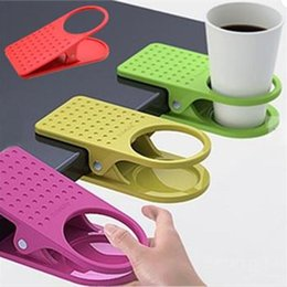 Wholesale Desk Drinking Coffee - Office Home Drink Coffee Water Cup Holder Mug Rack Cradle Stand Clip Desk Table