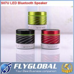 Wholesale Mini Led Screw Lights - S07U New S09 Mini LED Light Wireless Bluetooth Speaker Portable Screw Thread USB Speakers Handfree with Retail Package Free DHL