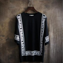Wholesale Tassels T Shirts Men - Palace Format Short Sleeve T Shirt Fashion Leisure Unlined Upper Garment Loose Blouse Round Collar Big Yards of Clothes T Shirts Very good