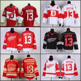 Wholesale Full Wing - 2016 Men Stadium Series 13 Pavel Datsyuk Detroit Red Wings Nhl Ice Hockey 2016 Stitched jerseys Free Shipping Mix Order