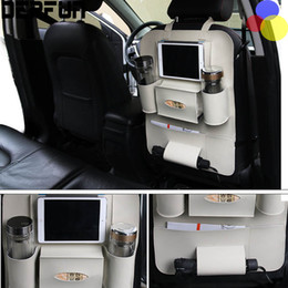Wholesale High Back Car Seats - PU leather Holder Organizer Car cover Pocket Storage Bag Vehicle Seat Back Hanger Whloesale High Quality