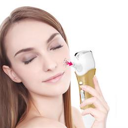 Wholesale Wholesale Facial Steamer - Facial Vacuum Suction Face Skin Pore Cleansing Device Spot Comedones Blackhead Remover Machine Facial Steamer Deep Cleanser Mist Steamer