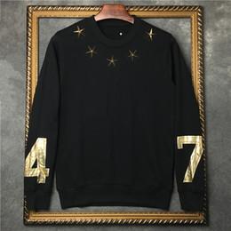 Selos para metal on-line-2019 hotselling outono moda tag clothing mens estrela de metal de ouro 74 carimbo quente impressão hoodies pullover Designer de camisola das mulheres jumpers
