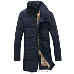 Wholesale Long Winter Parka For Men - For -30 Degree Temperature Size 44-52 Plus Size Warm Winter Jacket Men Long Stand Collar Casual Cotton Down Parka For Men