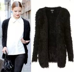 Wholesale Long Mohair Cardigan - Wholesale-New 2016 Winter Fashion Women Long Sleeve Cardigan Casual Ladies Solid Mohair Sweater Poncho