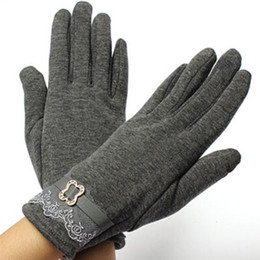Wholesale- 5 Colors Vintage Lace Touch Screen Gloves Ladies Winter Warm Free Shipping от