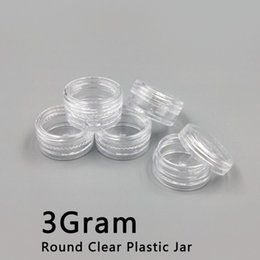 Wholesale Screw Jewelry - 3ML Clear Base Empty Plastic Container Jars Pot 3Gram Size For Cosmetic Cream Eye Shadow Nails Powder Jewelry