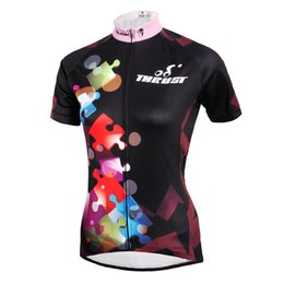 Wholesale Cycling Gear For Women - Cycling Jersey 2016 PALADIN Summer Cycling Tops Quick Dry Cycling Gear Ride Tops Girls Team Cycling Kits Pro Bicycle Clothes For Sports