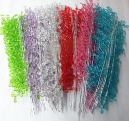 Wholesale Pink Wedding Table Crystals - 20pcs 30cm Crystals Garland For Bouquets Wedding Brida Hair Venue Decoration New