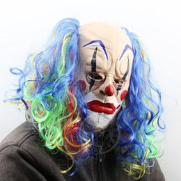 Nuova maschera da Clown spaventoso Capelli verdi Denti da Buck Full Face  Horror Masquerade Fantasma adulto Maschera per feste Halloween Easter Props  Fancy ... 27ab92208532