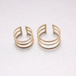 Wholesale Open Metal Ring - 2016 modern third ring opening gold silver plated metal simple fashion charm women jewelry the ring