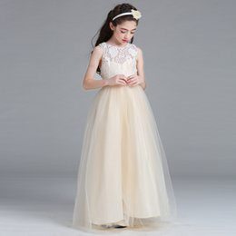 Wholesale Dresses Tube Top Style - dresses for girl sleeveless dresses kids party princess costumes dress children clothing tube top dress