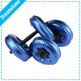 Wholesale exercise equipment for gyms - Wholesale- New Weight Adjustable Dumbbell Plastic Dumbbells for Fitness Gym weight loss Exercise equipment dumbbell exercises 1Pair