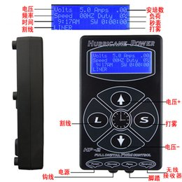 Wholesale Hp Tattoo Power Supply - Professional Tattoo Power Supply Hurricane HP-2 Powe Supply Digital Dual LCD Display Tattoo Power Supply Machines Free Shipping