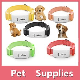Wholesale Gps Dog Collars - Anti Lost Alarm Tracker GPS Locator Pets Dog Cat Collar Collars Finder On Web And APP iPhone Samsung Android Shipping Free 161020