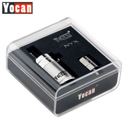 Wholesale Atomizer Mods - Authentic Yocan NYX Atomizers Wax Tank Vaporizer With Extra Quartz Dual Coil Fit 510 Thread 15W-25W Box Mods