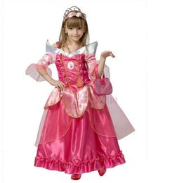 Wholesale Aurora Adult Costume - Free shipping New The sleeping beauty Aurora princess Dress girls women Cosplay Costume for kids Adult for party