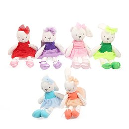 Wholesale Large Stuffed Animal Toys - Wholesale-New Cute 42cm Large Soft Rabbit Stuffed Animal Bunny Toy Baby Girl Kid Pets 2017 New Arrive Fashion For Baby