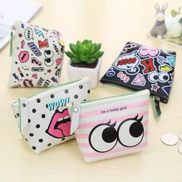 Wholesale Cheapest Purses - Wholesale- 5 style Men & Women Cute Cartoon Printed Coin Purse Wallet Ladies Cheapest Mini Short Coin Holder Wallet