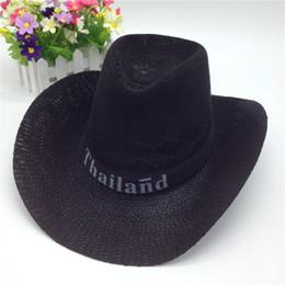 Wholesale Western Straw Hats - Summer Western popular brand Soft Straw cowboy hats for men chapeau cowboy straw cowboy hat